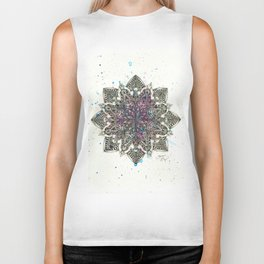 Zen Watercolor Mandala Full Biker Tank