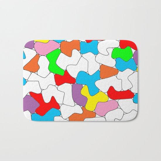 Multi-colored Shapes  Bath Mat