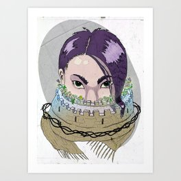 Tough Scarf Art Print
