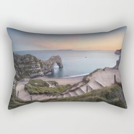 Winding Way to Durdle Door Rectangular Pillow