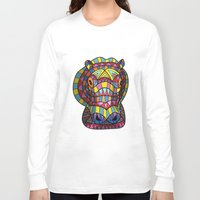 hippo Long Sleeve T-shirts featuring Hippo. by Farkas