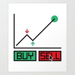 Buy Sell Trading Chart Art Print