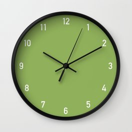 Numbers Clock - Green Wall Clock