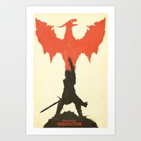 dragon age inquisition Art Prints featuring Dragon Age: Inquisition V1 by FelixT