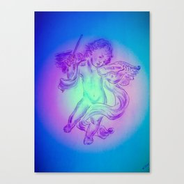 Heavenly apparition  Angel Music Canvas Print