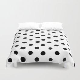 Modern Handpainted Abstract Polka Dot Pattern Duvet Cover