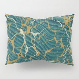 Green Gold Marble Pillow Sham