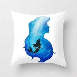 Ariel Underwater Throw Pillow