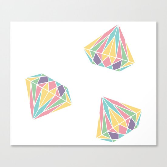 Colorful Diamonds Pattern - gemstones pattern Canvas Print