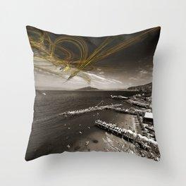 Sorrento Erupts Throw Pillow