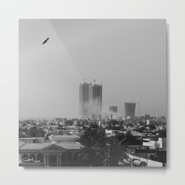 Smoke in the city Metal Print