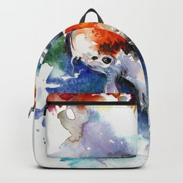 Koi Fish in the Pond - Zen Watercolor Backpack