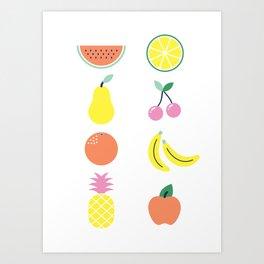 Summer fruit salad Art Print