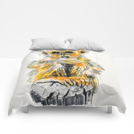 baby golden monkey Comforters