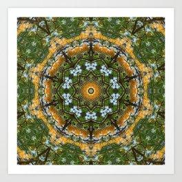 Yellow Tree Flower Kaleidoscope Art 7 Art Print