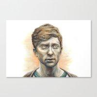 kieren walker Canvas Prints featuring Kieren Walker by laya rose