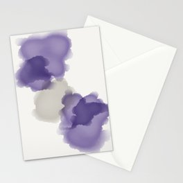 Purple Splash Stationery Cards