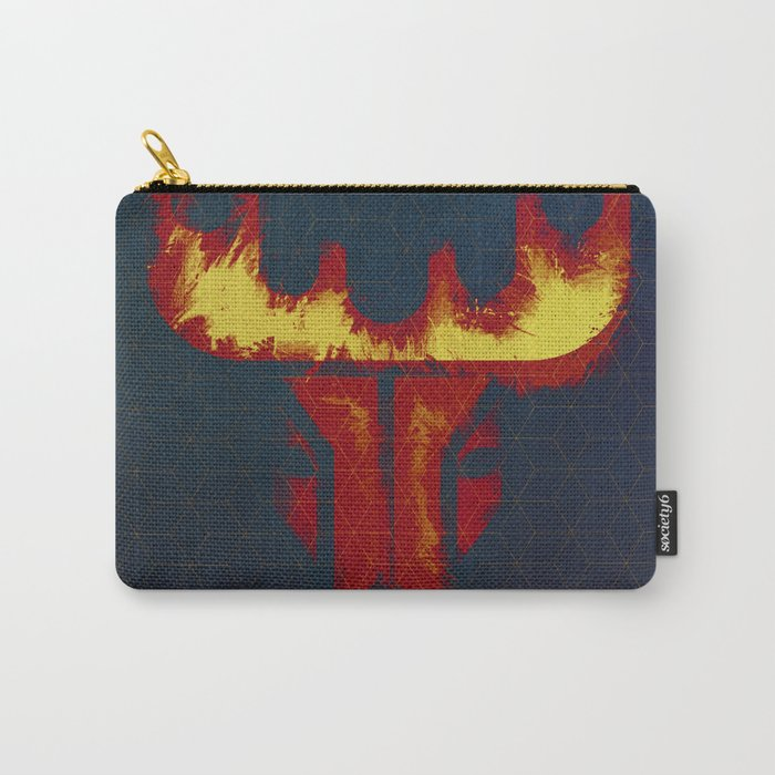 raindeer in dark blue Carry-All Pouch