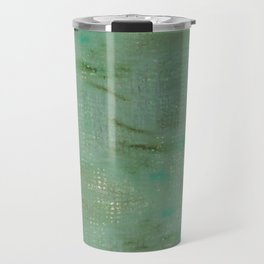 Mint green turquoise paths Travel Mug