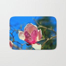 Magnolia Blossom In Pink Bath Mat