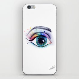 Eye see rainbows iPhone Skin
