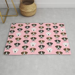 Boxers cute dog head boxer pattern must have gifts for dog lover with boxers Rug