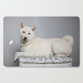 Cream Shiba Inu Dog Cutting Board