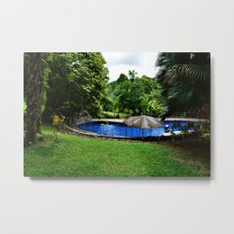 Pool days in the Rain Forest Metal Print