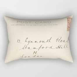 Retro post card  with address and stamp Rectangular Pillow