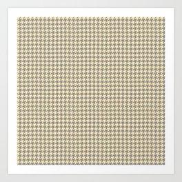 Grey Beige Houndstooth Pattern Art Print