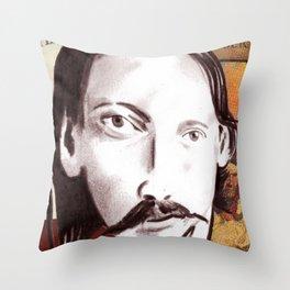 Robert Louis Stevenson Throw Pillow