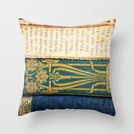 Antique Book Textures Throw Pillow