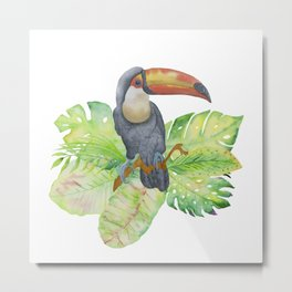 Toucan tropical and exotic Bird on #Society6 Metal Print