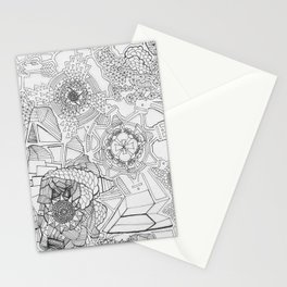 Adult Coloringbook Template Mandalas 1 Stationery Cards
