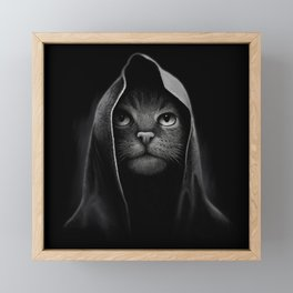 Cat portrait Framed Mini Art Print