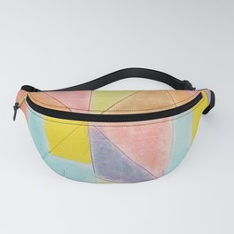 Geometric Abstract  Pastel Pink Violet Teal Triangles Pattern Fanny Pack