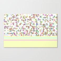 Lots of Dots Yellow Canvas Print