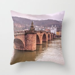 Heidelberg Bridge Throw Pillow