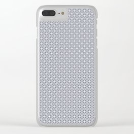 A simple small gray, white pattern. Clear iPhone Case