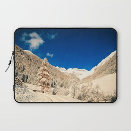 Sunny day in the alps after the snowfall Laptop Sleeve