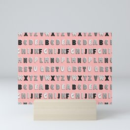 ABC Pink Mini Art Print
