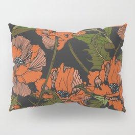Autumnal flowering of poppies Pillow Sham