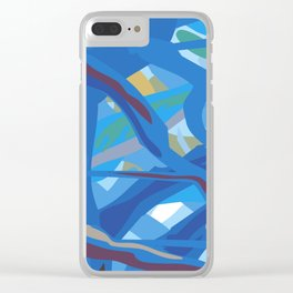 Tropic Fog in Trees Clear iPhone Case