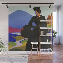 Abruzzo Italian travel Lady on a walk Wall Mural