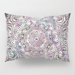 Dreams Mandala - Magical Purple on Gray Pillow Sham