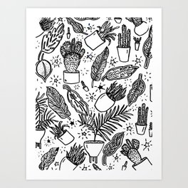 Magic Plants Art Print