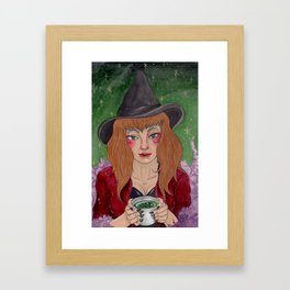 Tea Reading Framed Art Print