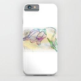 Tulip homespun iPhone Case