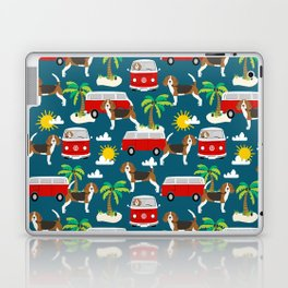 Beagles beagle pattern mini van vintage classic beach socal dog breed pattern Laptop & iPad Skin