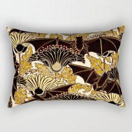 Art Nouveau Bats and Flowers Rectangular Pillow